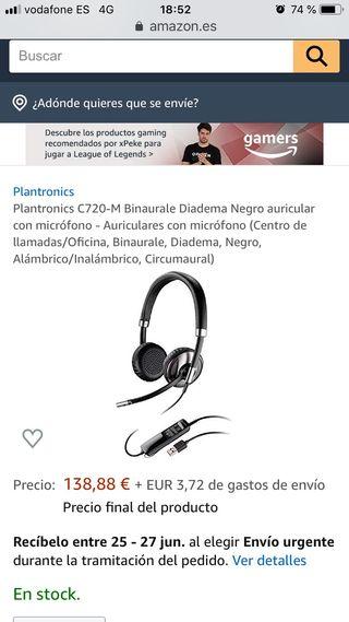 Plantronic c720 auriculares