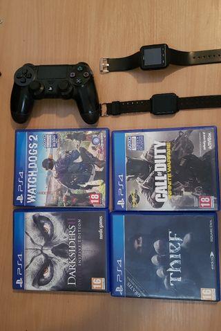 Smartwatch, juegos y mando para PS4