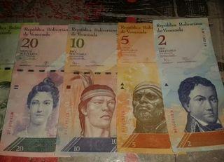 Oferta finde !! 6 billetes de Venezuela nuevos !!