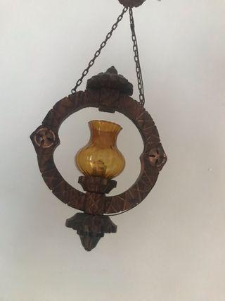 Lámparas antiguas Madera