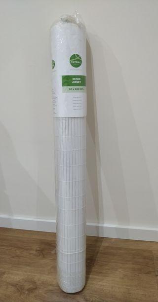 persiana/estor blanco de PVC