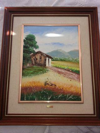 28€ cuadro óleo sobre lienzo pintor E.Belda