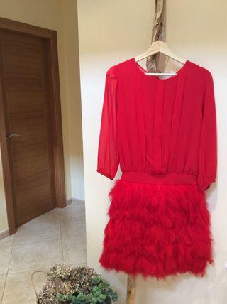 95a3d95ef Vestido de fiesta plumas de segunda mano en la provincia de A Coruña ...