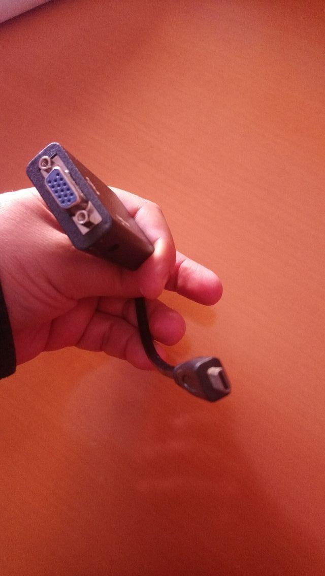 adaptador micro HDMI a Vga (nuevo)
