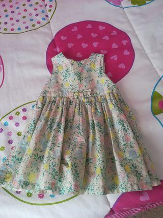 vestido de h y m talla 12 meses