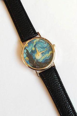 """Reloj de """"La noche estrellada"""" de Vincent van Gogh"""