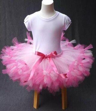 Vestido rosa flamenco de tutu