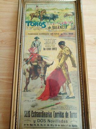 cartel taurino 1948 valencia.( dedicado )