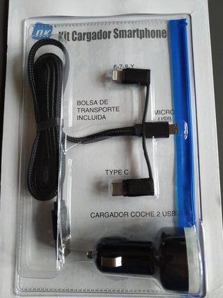 Kit Cargador Smartphone Android e Iphone, Nuevo