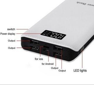 Bateria externa Power Bank.
