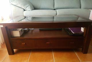 Banak, mesa de centro con cajón.