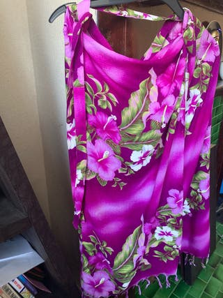 Ladies cotton sarongs in shades purple/lilac