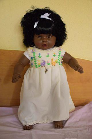 Muñeca cuerpo blando 70cm Piel negra Pelo rizado