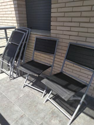 lote de 5 sillas plegables de Jardin