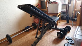Banco Musculación Domyos BA530+Kit 30kg+Kit 20kg