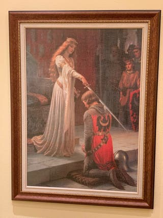 Cuadro grande The Accolade (Edmund Leigton)