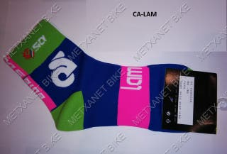 Calcetines ciclismo running Lampre
