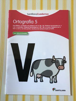 Cuaderno Ortografía Castellana 5 SANTILLANA. NUEVO