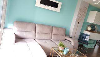 Sofa de diseño + chimenea + silla/butaca (lujo)