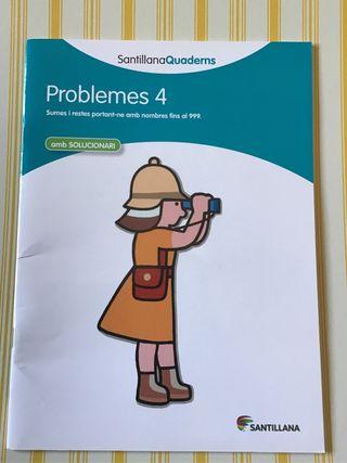 Cuaderno Problemes 4 Santillana. NUEVO!