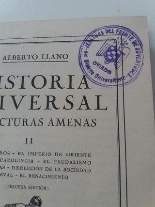 libro historia universal en lecturas amenas