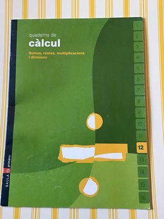 Quadern de càlcul 12 BAULA. NUEVO!