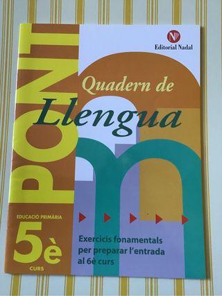 Quadern de llengua 5 primària NADAL. NUEVO!