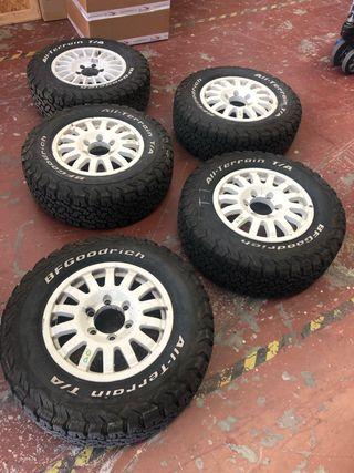 Llantas braid y neumáticos bfgoodrich