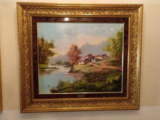 Vendo 2 Cuadros pintura al oleo enmarcado