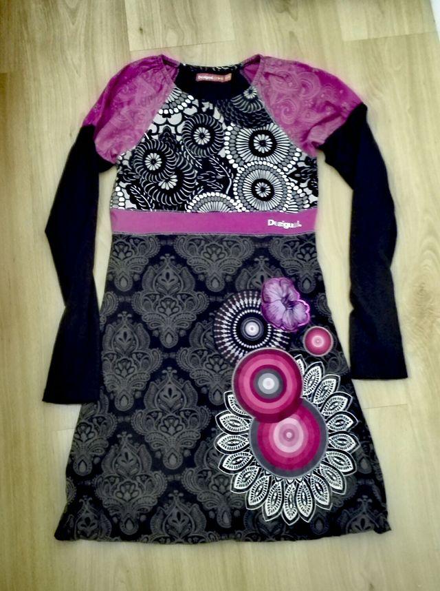 Vestido Desigual talla 13-14 manga larga
