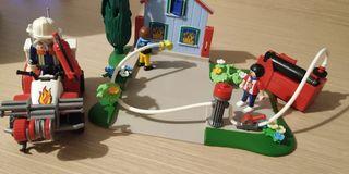 Quad y bomberos playmobil 5169