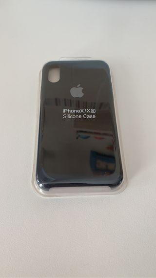Funda iPhone XS/X NEGRA DE SILICONA