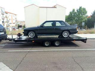 Remolque grua porta coches plataforma