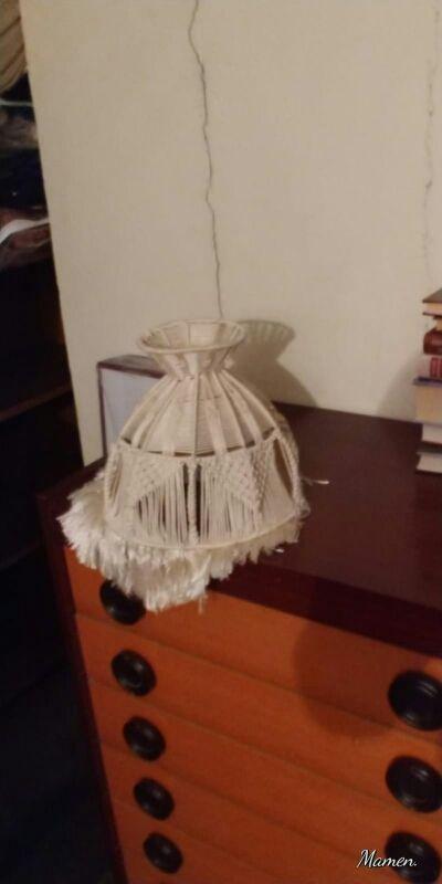 LAMPARA DE MACRAME