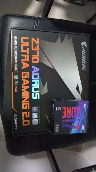 i7 8700k un año y placa base gigabyte gaming ultra