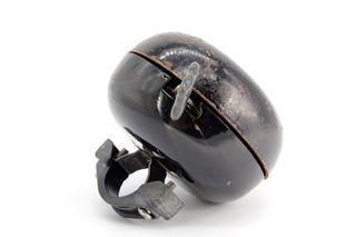 Antiguo timbre para bicicleta, de metal esmaltado