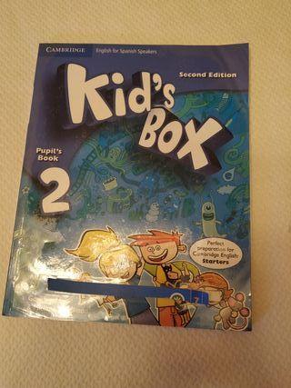 libro de inglés segundo de primera kid's box