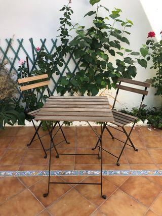Mesa de jardín Ikea 2 sillas exterior