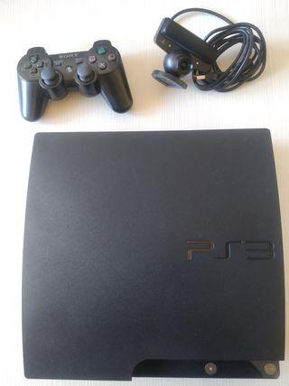 PS3 Slim con mando 20 juegos y cámara
