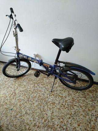 vendo bicicleta plegable urban, 7 marchas ( hay qu