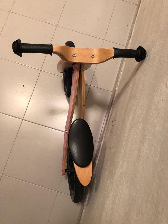Bici madera iniciacion