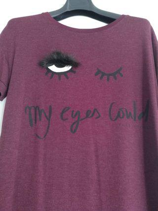 Camiseta Bershka ojo