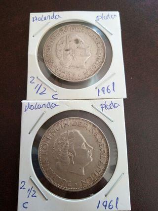monedas plata holandesas