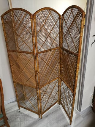 Biombo de bambú