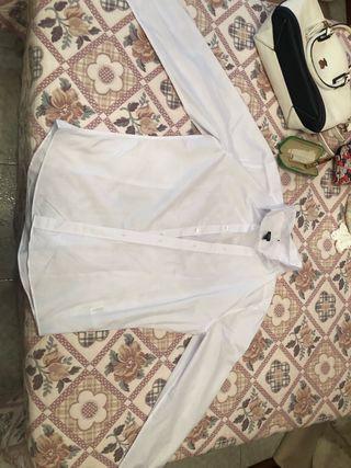 Camisa de vestir blanca H&M talla L