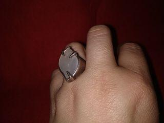 anillo plata años 70