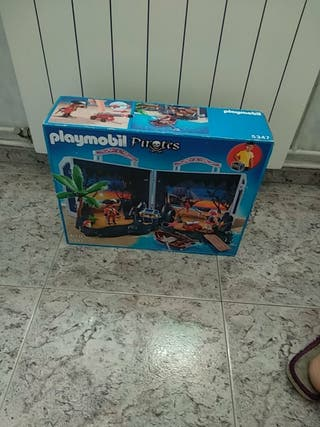 caja nueva de piratas de playmobil