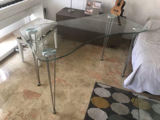 Mesa de despacho / escritorio de cristal