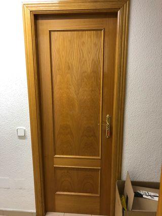 Puertas de paso color roble