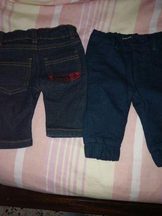 dos pantalones bebé hasta los 5 meses